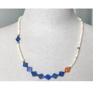 NEW Blue Diamond Necklace